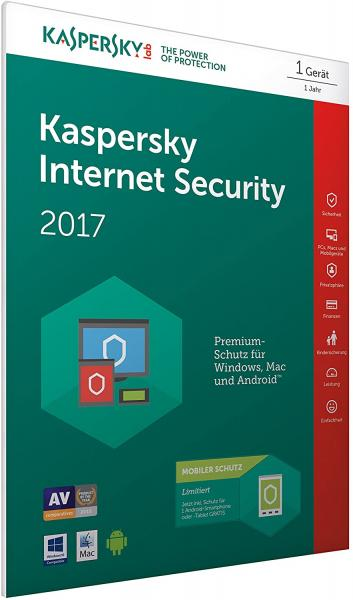 Kaspersky Internet Security 2017, 1 Gerät